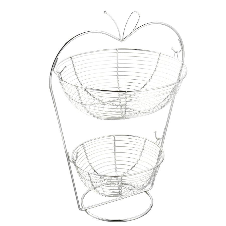 Koszyk Metalowy Dwupoziomowy Tadar Jablko 36 X 27 X 50 Cm Tadar Pl