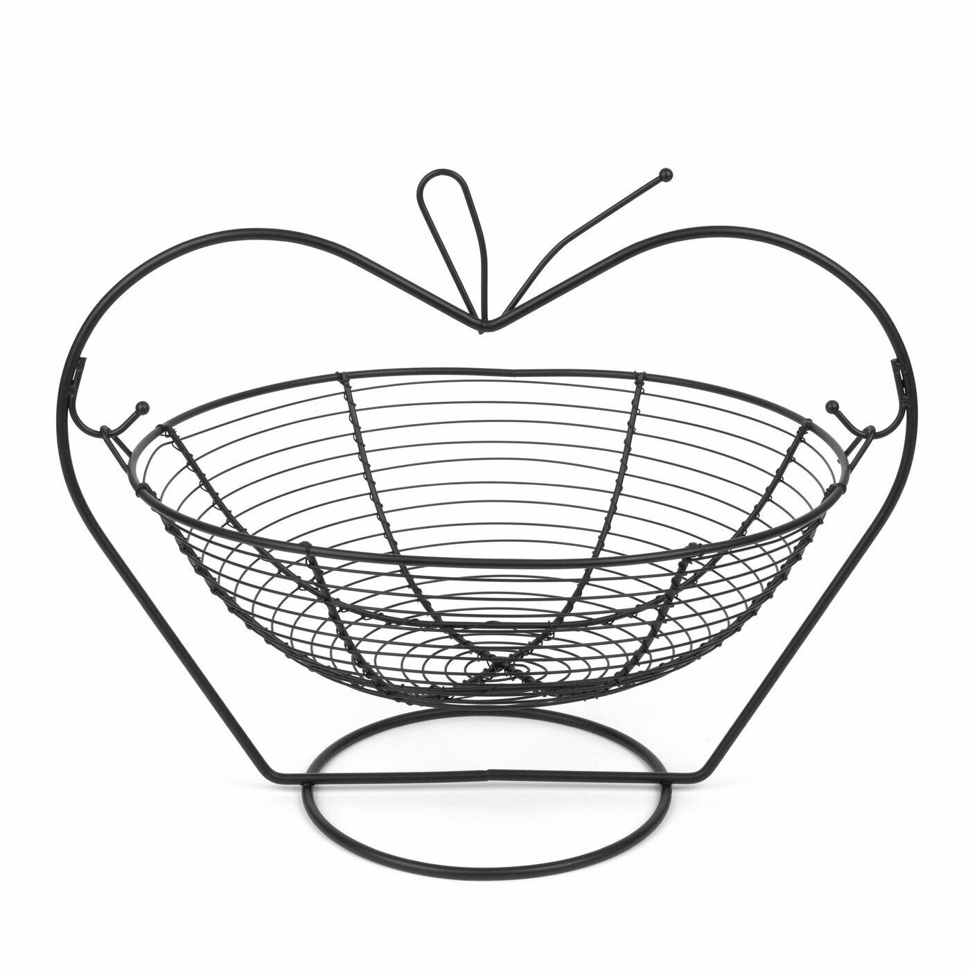 Koszyk Na Owoce Tadar Kolyska Jablko Ii 36 X 27 X 32 Cm Czarny Tadar Pl